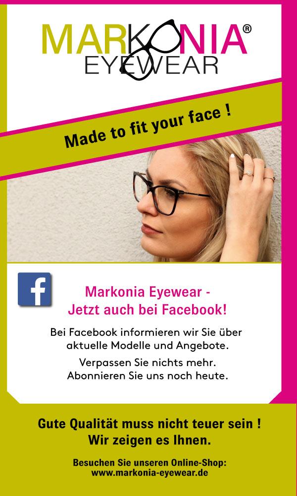 Jetzt auch bei Facebook - Markonia Eyewear!